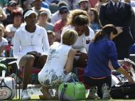 Wimbledon: vírus força Serena Williams a abandonar em pares