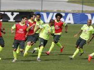 Treino da seleção brasileira para o jogo Brasil vs Alemanha (REUTERS)