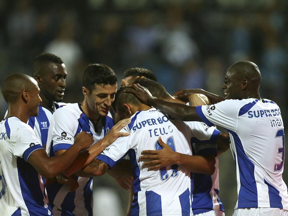 Arouca-FC Porto, 0-5 (resultado final)