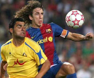 Barcelona perde capitão Puyol durante três semanas