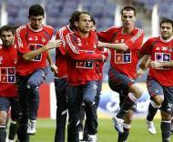 Benfica treina em Camp Nou