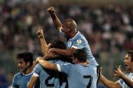 Uruguai festeja apuramento para o Mundial 2014 (foto Reuters)