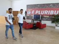 Candeias e Pizzi (foto SL Benfica)