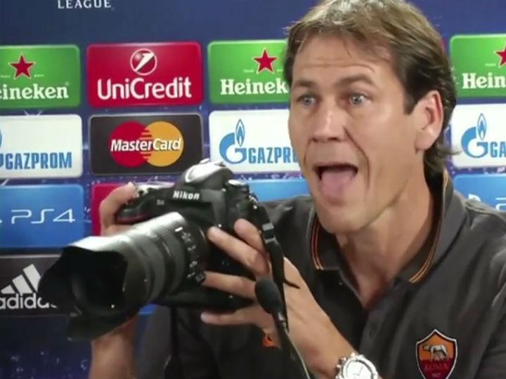 Treinador da Roma implica com os repórteres