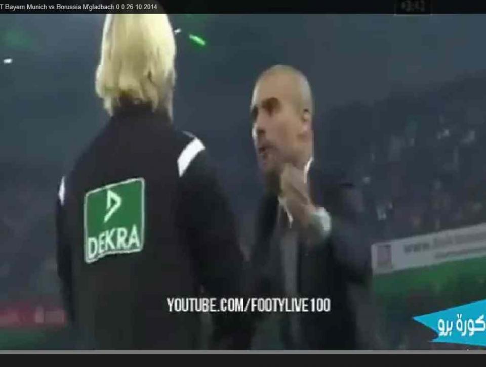 A pressão muito alta de Guardiola sobre esta árbitra, já viu?