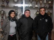 Clube de Bairro: Pinheiro (a presidente Cecília Rodrigues, o treinador José Pereira e o tesoureiro Armando Pereira)
