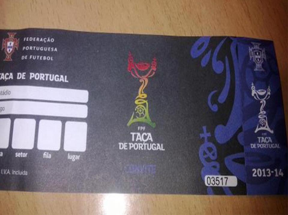 Taça de Portugal  FPF assegura que bilhetes já foram emitidos ... 012f2eaff24b7