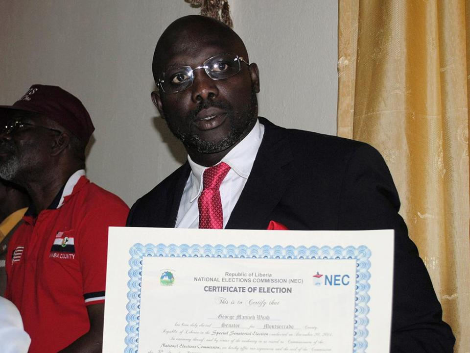 George Weah anunciado vencedor nas eleições presidenciais na Libéria