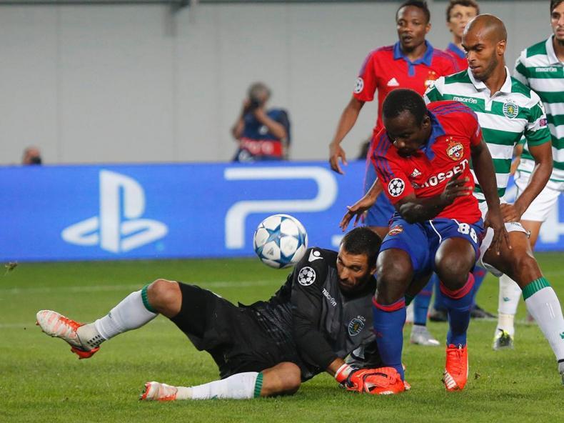 CSKA Moscovo-Sporting (REUTERS/ Maxim Zmeyev)