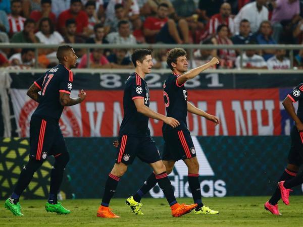LC, grupo F: Olympiakos de Marco Silva perde com o Bayern (0-3)