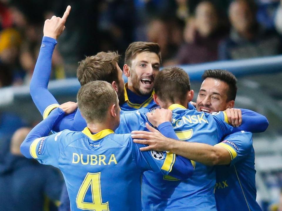 Liga dos Campeões: BATE ganha vantagem mínima no Azerbaijão