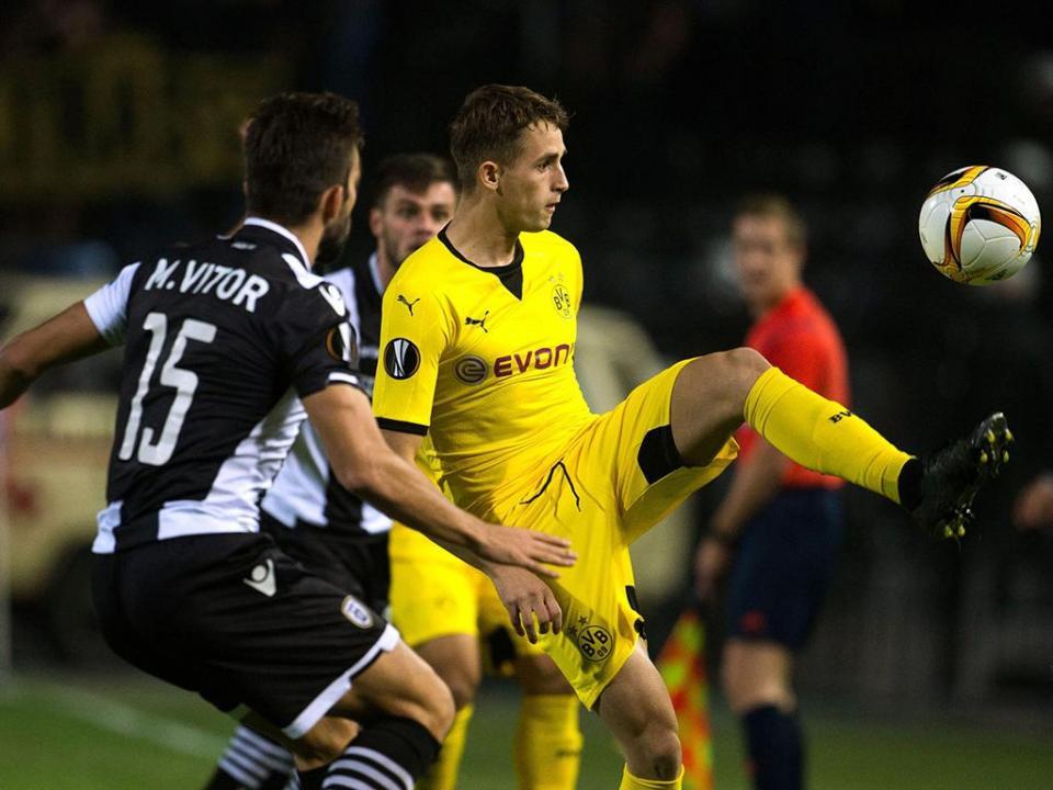 LE, grupo C: Dortmund empata na casa de Miguel Vítor e Ricardo Costa