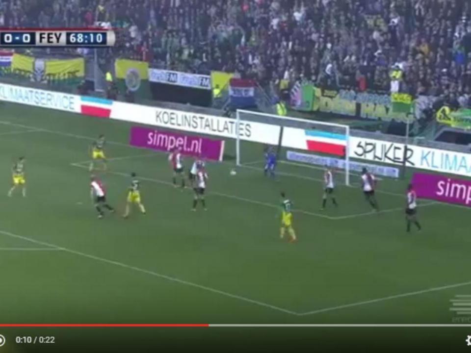VÍDEO: autogolo amador? Nada disso, aconteceu com o Feyenoord