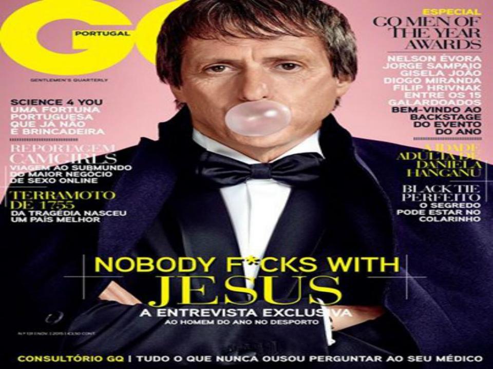 FOTO: Jesus na capa da GQ
