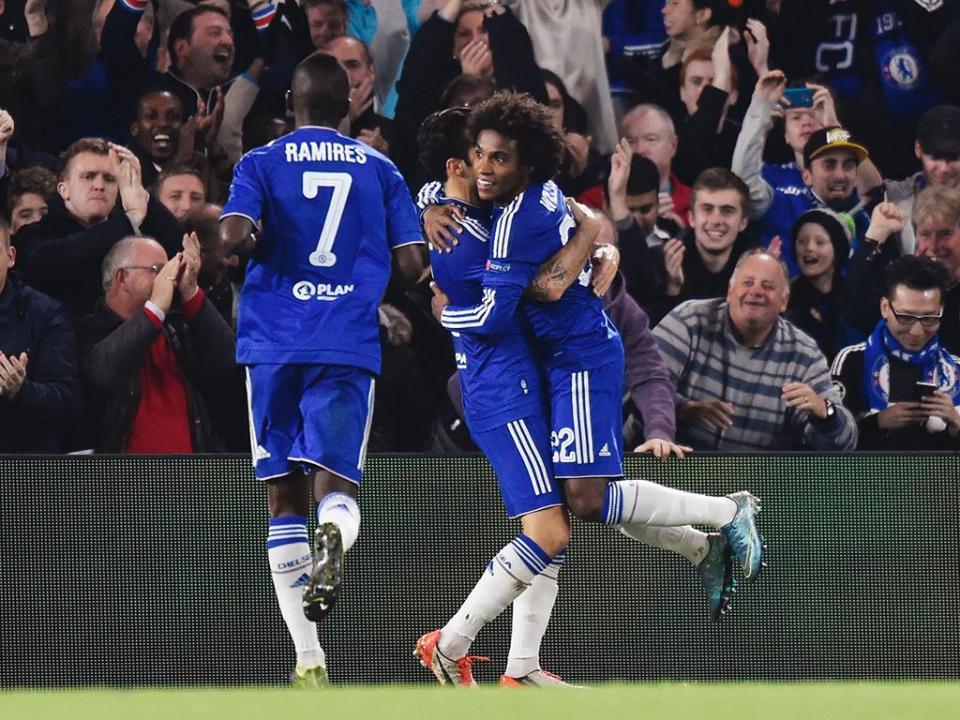 LC, Grupo do FC Porto: Willian salva Chelsea à bomba