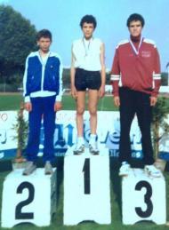 Clube de Bairro: CO Pechão (Campeonato DN Jovem, pódio dos 3 km marcha, Iniciados, maio de 1990)