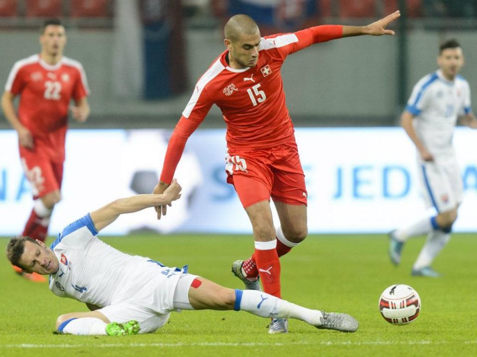 Eslováquia e Suíça marcam cinco golos em Trnava (3-2)