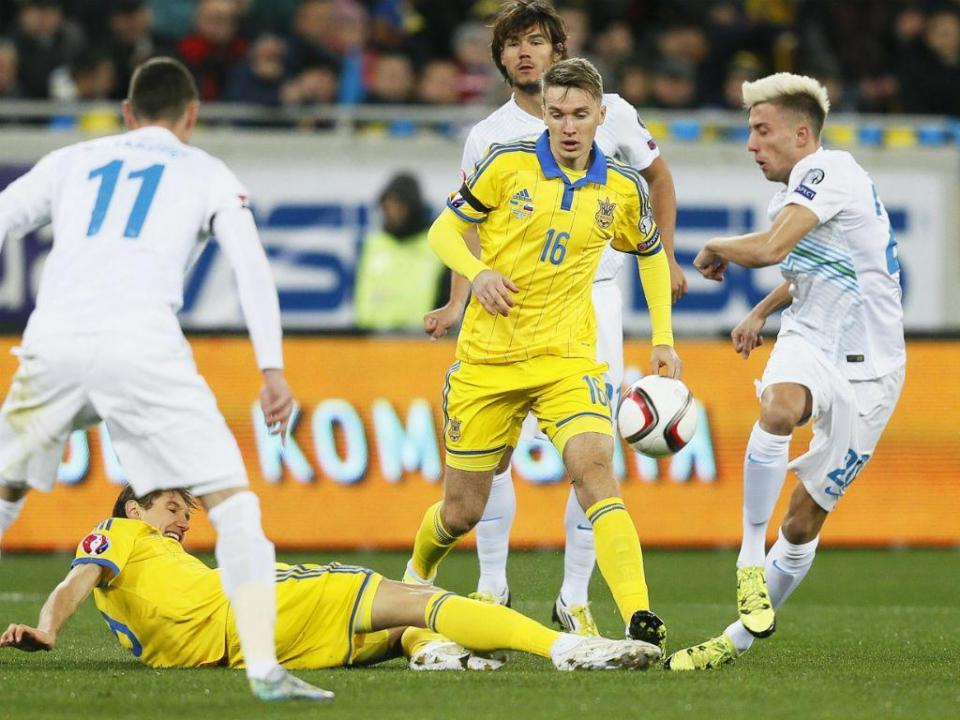 Euro-2016 (play-off): Ucrânia ganha vantagem sobre a Eslovénia (2-0)