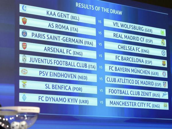 Liga dos Campeões: quadro completo dos oitavos de final