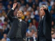 Guardiola e Carlo Ancelotti (Reuters)
