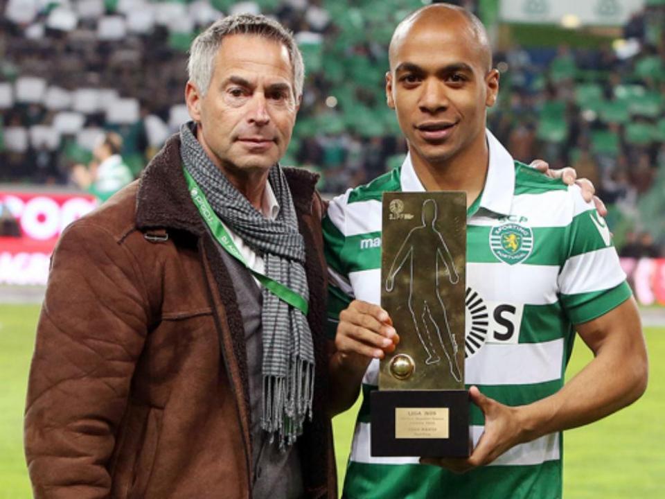 João Mário recebeu prémio de melhor jovem de janeiro na Liga