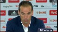 Petit: «Todo o mérito ao Benfica mas...»