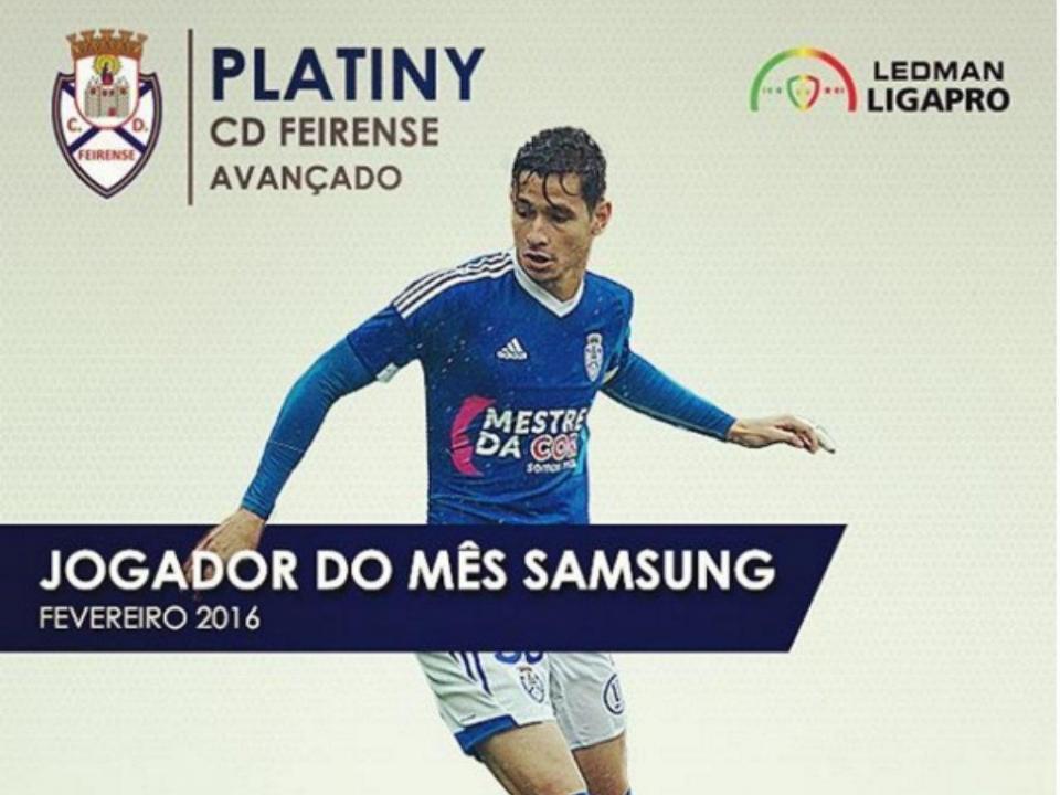 Platiny melhor jogador de fevereiro na II Liga