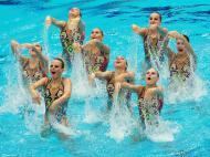 Europeus de natação sincronizada em Inglaterra (EPA)