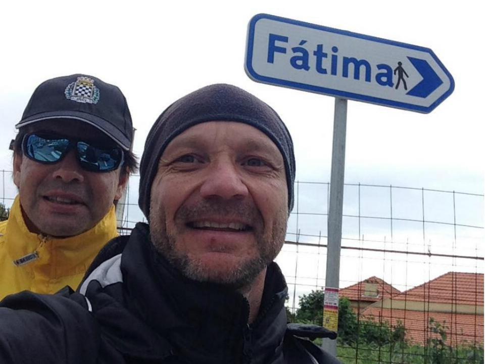 Erwin Sánchez em peregrinação até Fátima