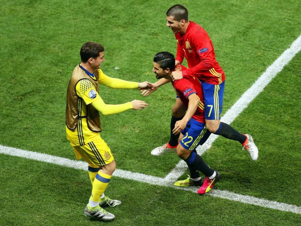 277ce1ec54 Euro 2016  Nolito dedicou golo a Casillas (Vídeo)