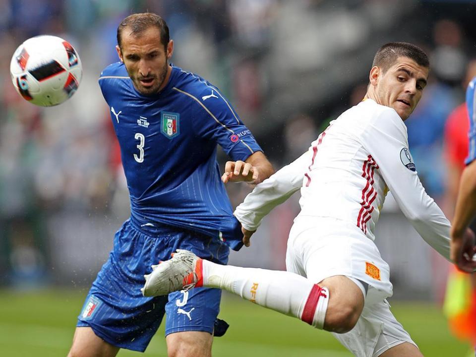 Chiellini regressa aos convocados da Itália para defrontar Portugal