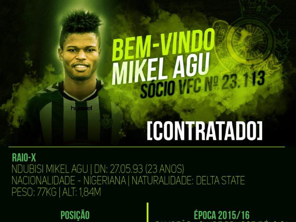 OFICIAL: Mikel Agu regressa ao V. Setúbal