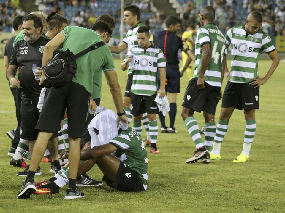 Sporting: Petrovic de regresso aos treinos após lesão