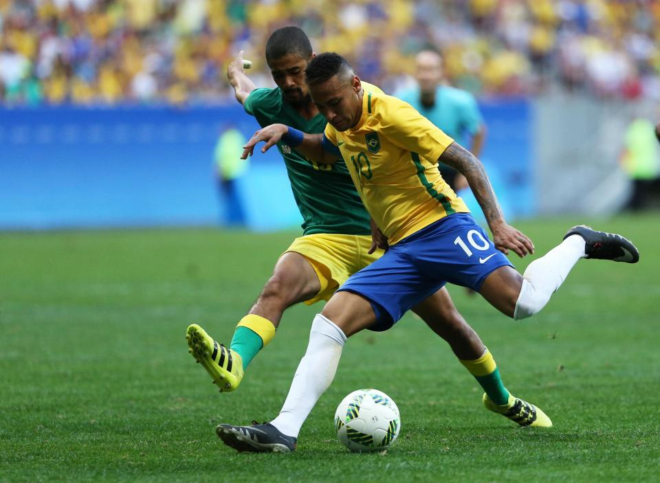 586b386435 Rio 2016 (futebol)  Brasil bate Colômbia e vai defrontar Honduras (2 ...