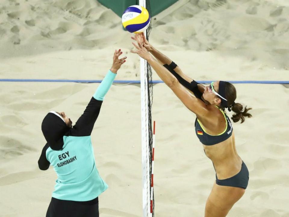 Rio 2016: a imagem de voleibol de praia que está a correr mundo