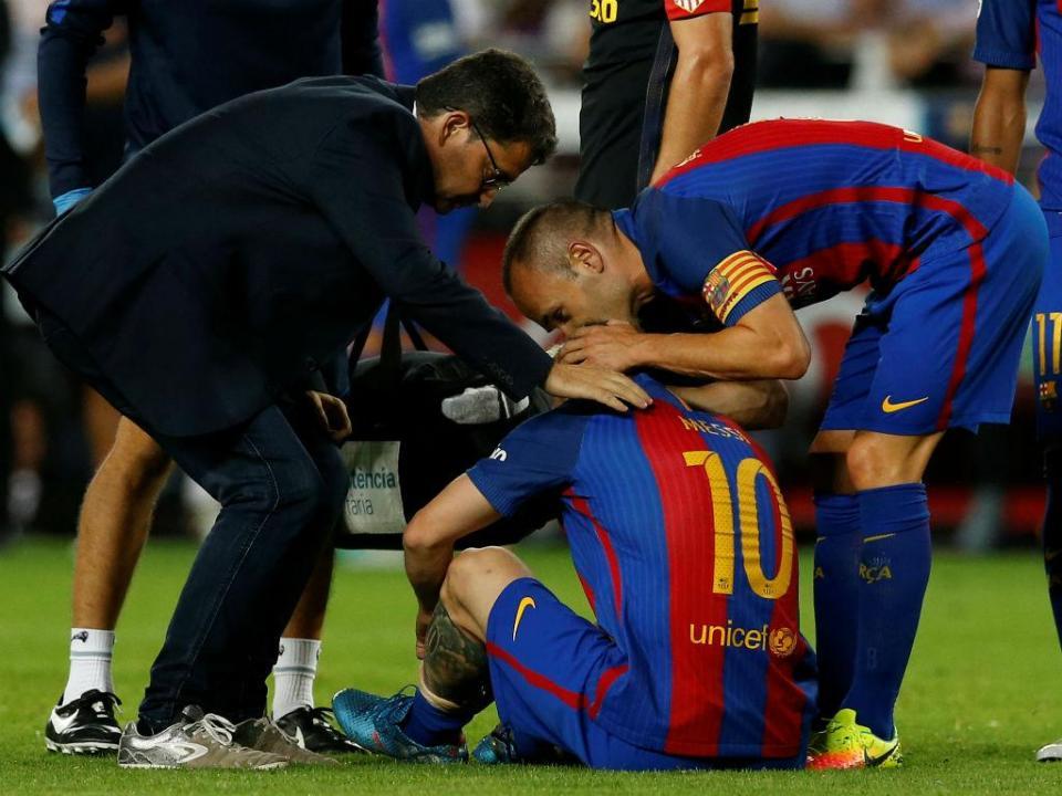 Messi e a saída de Iniesta: «É uma lástima»