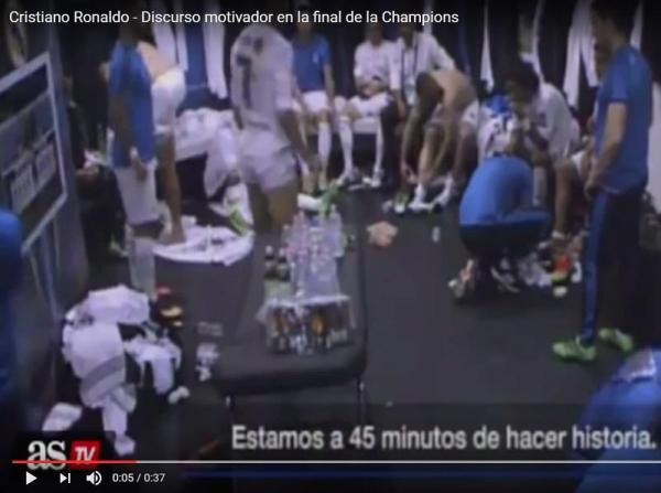 VÍDEO: o discurso de Ronaldo ao intervalo da final da Champions