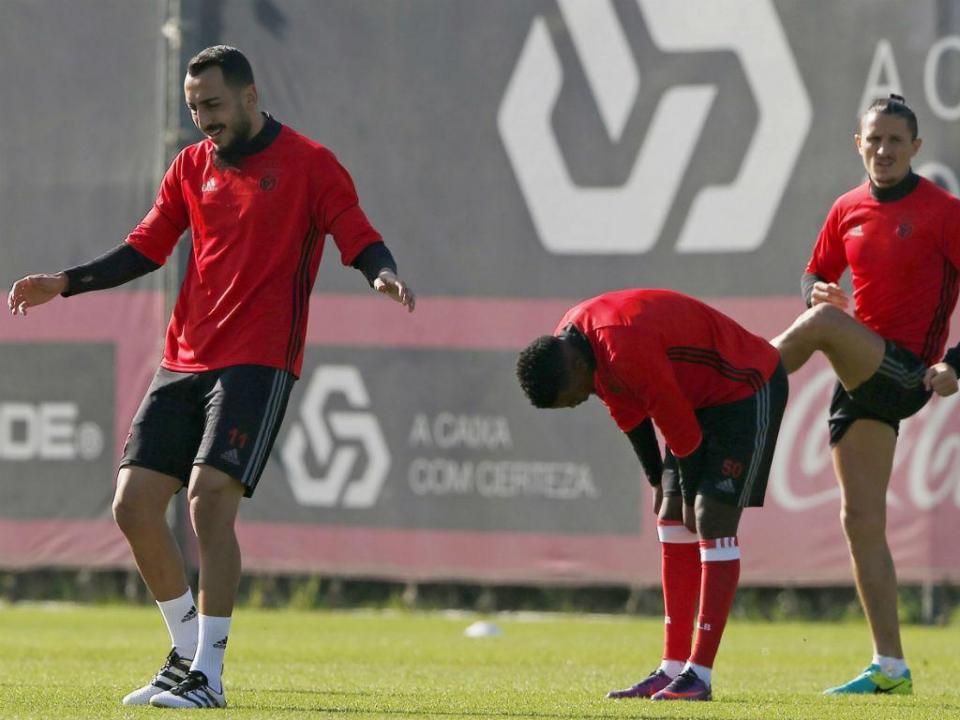 Benfica: Fejsa e Filipe Augusto recuperam de entorses