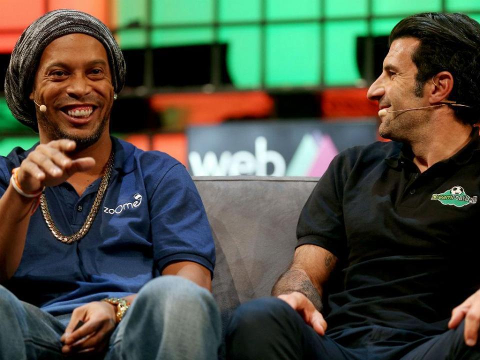 Figo e Ronaldinho são capitães em jogo solidário da ONU