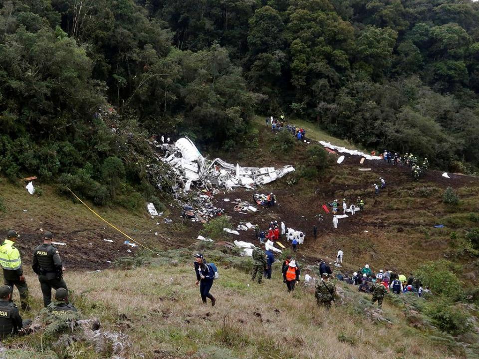 Chapecoense: falta de combustível originou queda do avião