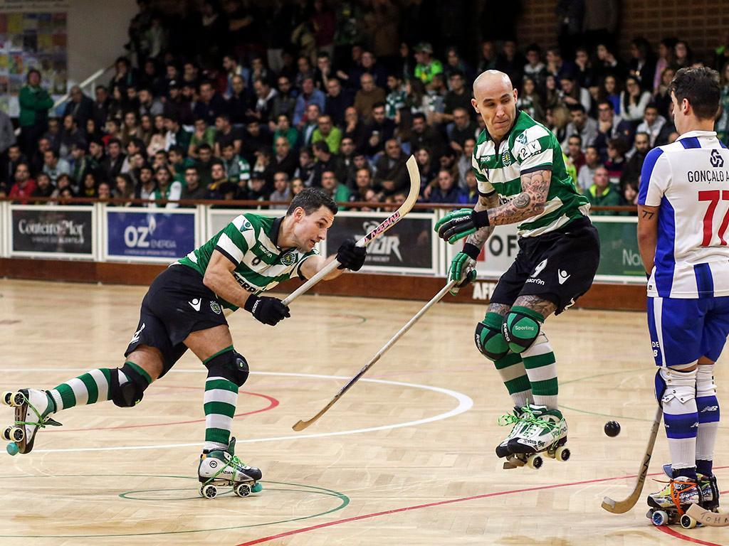 Hóquei: Sporting vence Oliveirense com reviravolta