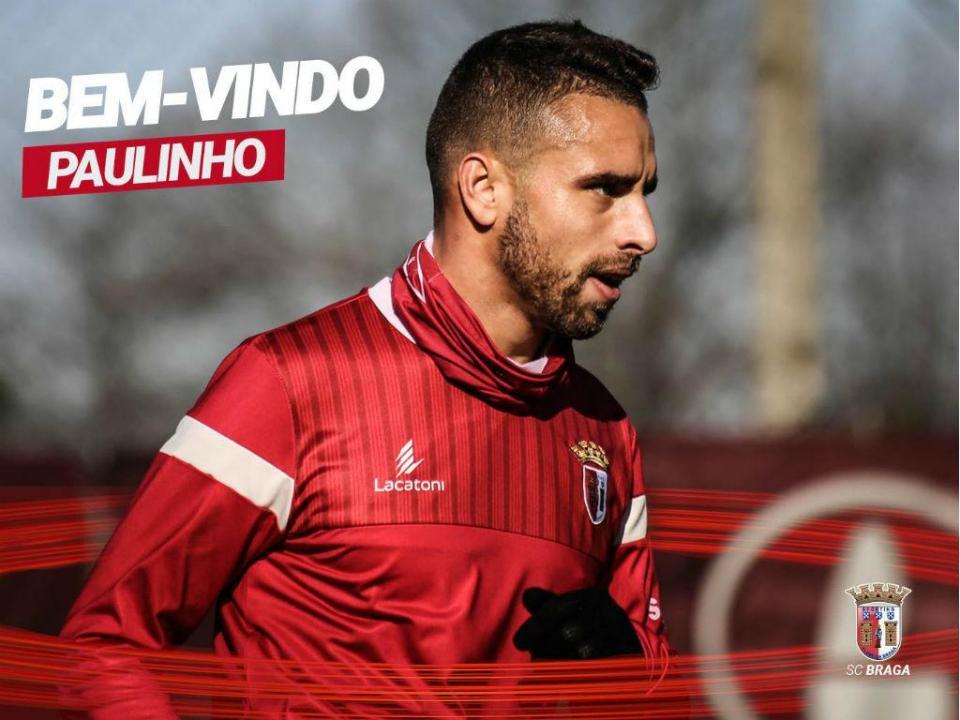 e0f3f8b085 OFICIAL  Paulinho (ex-Desp. Chaves) no Sp. Braga