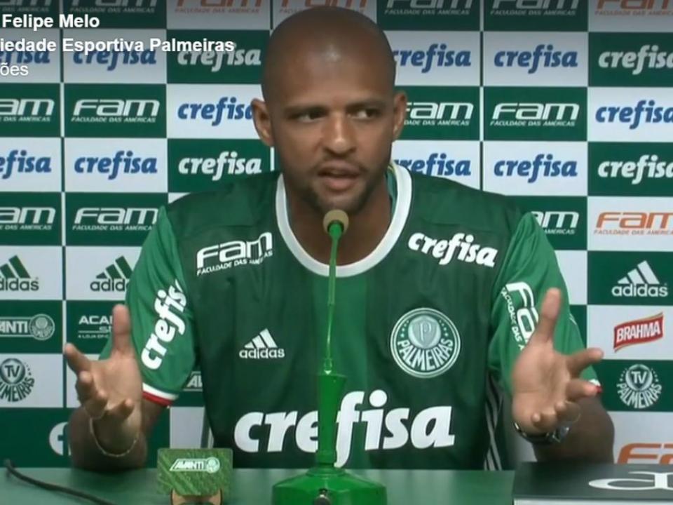 Palmeiras: Felipe Melo envolvido em mais um incidente no treino