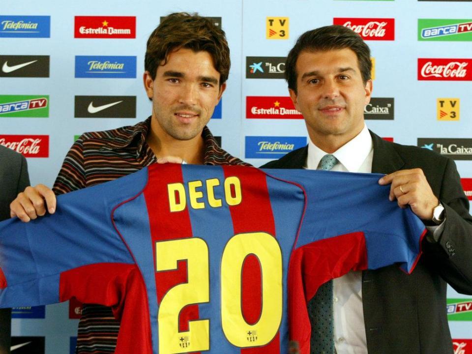 «Joguei com o Ronaldinho, Eto'o, Messi e Neymar, mas o mais forte era o Deco»