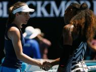 Serena Williams e Johanna Konta (Reuters)