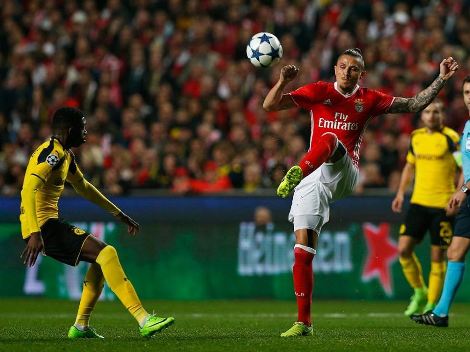 Dortmund distraído: clube alemão publicou onze provável do Benfica com Fejsa