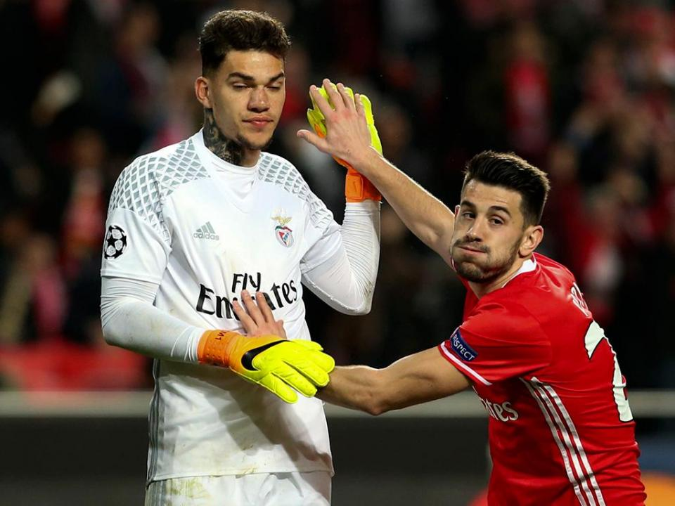 Benfica: Ederson, Pizzi e Carrillo em risco para o dérbi