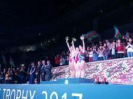 Taça do Mundo de ginástica de trampolins em Baku (foto Federação de Ginástica de Portugal)
