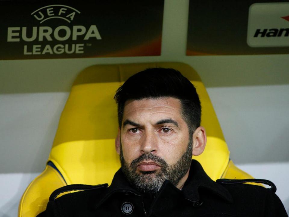 Primeira derrota de Paulo Fonseca no campeonato da Ucrânia
