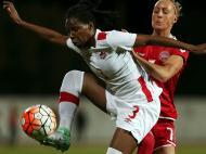 Futebol Feminino: Dinamarca-Canadá (Lusa)